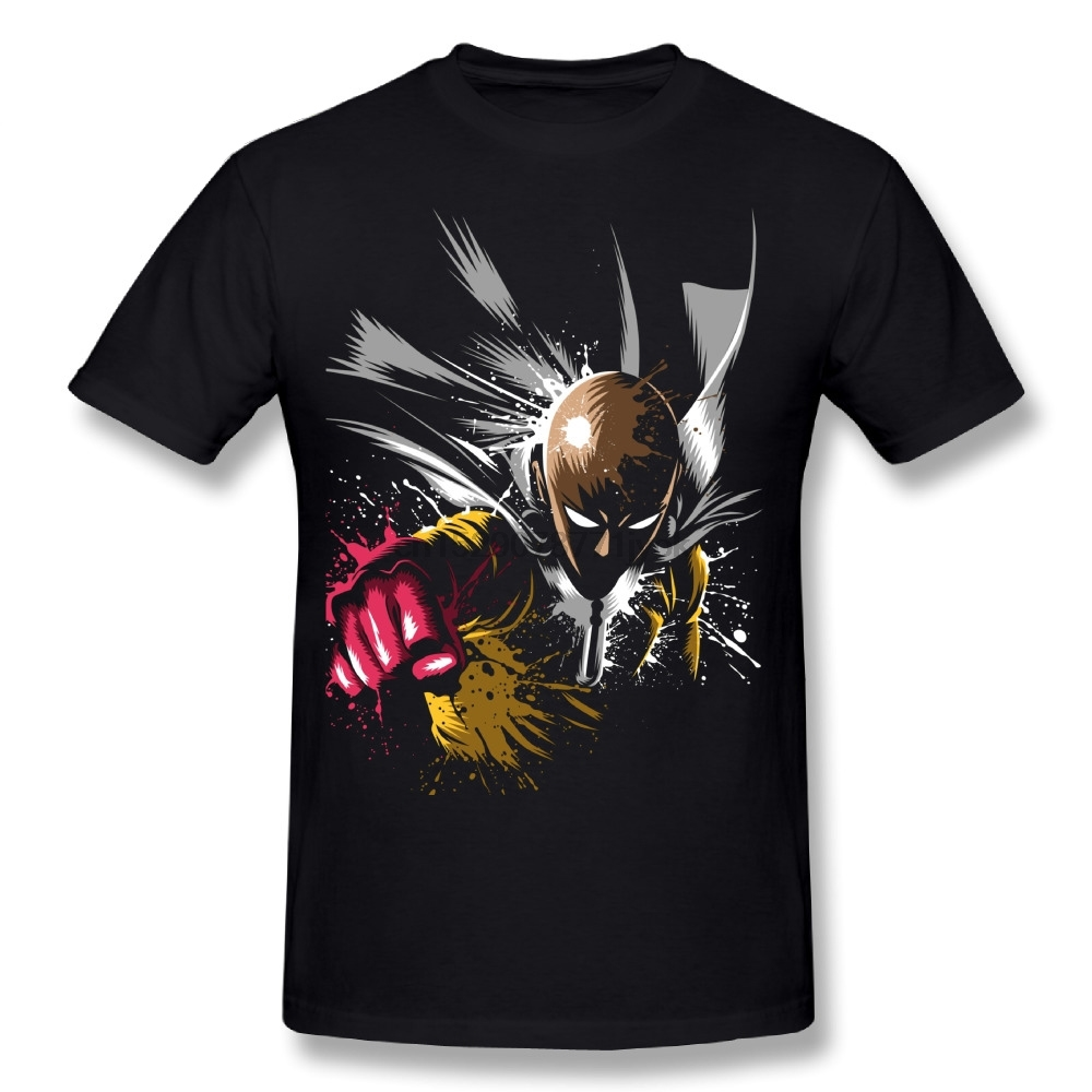 100% Cotton One Punch Man T Shirt 100% Cotton Hot Sale Anime T-Shirt 3D Print Causal New Arrival