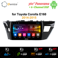 Ownice k3 k5 k6 Car Radio DVD Player GPS Android 9.0 For Toyota Corolla E160 Levin 2013 2014 2015 2018 360 Panorama DSP SPDIF