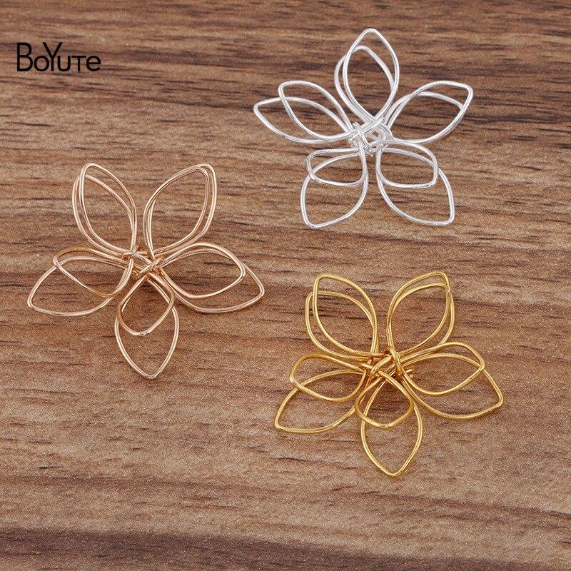 Металлическая железная проволока BoYuTe (40 шт./лот) 20 мм 35 мм, материалы для обмотки цветов ручной работы, «сделай сам», фурнитура для ювелирных ...