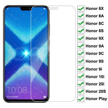 Перейти на Алиэкспресс и купить Защитное стекло 9H, закаленное стекло для Huawei Honor 8X 8A 8C 8S Honor 9X 9A 9C 9S 9i 10i 20i 20S Play