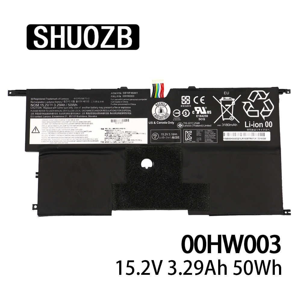 00HW003 SB10F46441 Batteria Del Computer Portatile Per Lenovo ThinkPad X1 Carbonio Gen3 2015 SB10F46441 SB10F46440 15.2V 50wh 3295mAh SHUOZB Nuovo