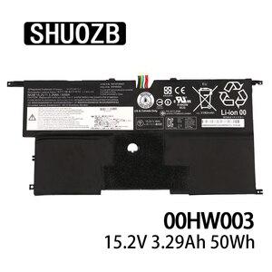 00HW003 SB10F46441 Laptop Battery For Lenovo ThinkPad X1 Carbon Gen3 2015 SB10F46441 SB10F46440 15.2V 50wh 3295mAh SHUOZB New
