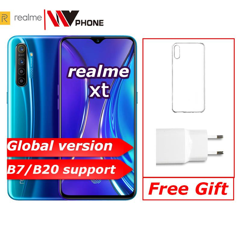 realme xt Global version Moblie Phone 6.4'' Full Screen Snapdragon 712 AIE 64MP Camera NFC OPPO Cellphone VOOC