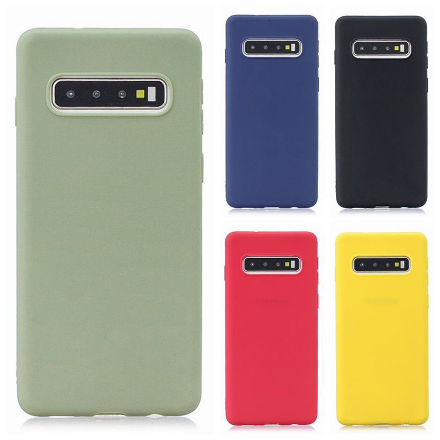 Candy Macaron Color Case For Samsung Galaxy A50 A70 A40 A30 A20 A10 A60 2019 S8 S9 S10 J4 J6 Plus J8 A6 A7 2018 Note 10 9 Cover