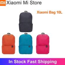 재고 있음 Xiaomi 10L 배낭 가방 다채로운 새로운 색상 멀티 시나리오 응용 프로그램 남성 여성을위한 편안한 어깨