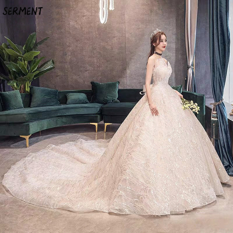 OLLYMURS Luxury Lace Sleeve Wedding Dress Off The Shoulder Suitable For Pregnant Women 100cm Tail Spring Summer Autumn Wedding