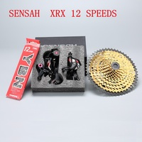 Sensah xrx mountain bike 12 velocidade groupset 12s 11-52 t cassete shifter traseiro desviador shift chain mtb 12s conjunto de ouro m9100 eagl