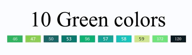 10 green colors