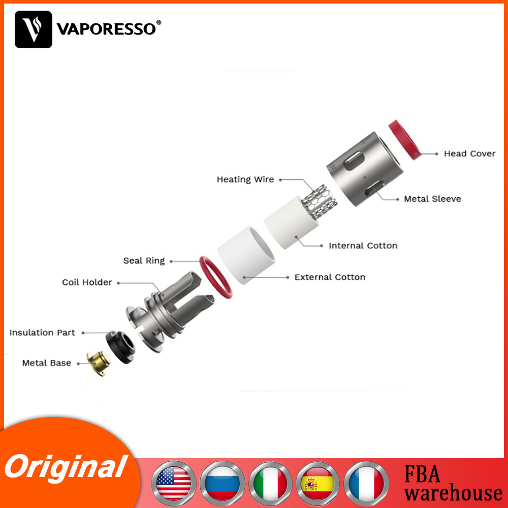 5-10 box Original Vaporesso Target PM80 GTX Coil 0.2ohm & 0.3ohm Vape Atomizer core for Target PM80 Pod Electronic Cigarette Kit