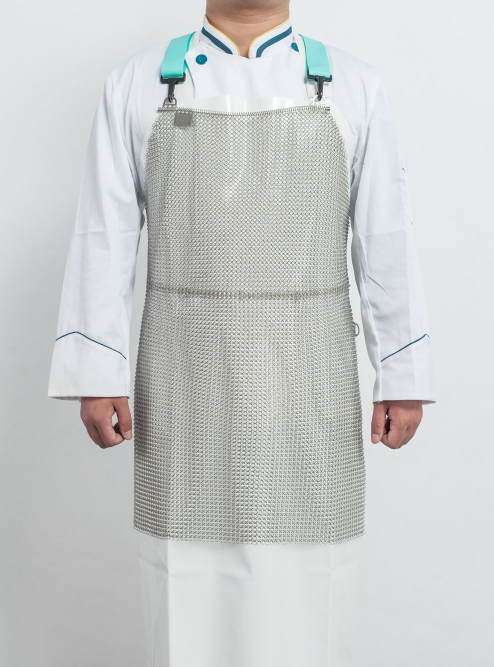 7mm Diameter Cut Resistant Knife Proof Protect Stomach Stainless Steel Chain Mail Butcher Apron