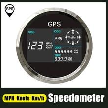 Цифровой 85 мм GPS Спидометр с 7 цветов Подсветка ЖК-дисплей Дисплей одометр Регулируемый пройденное расстояние в милях туда и обратно счетчик...