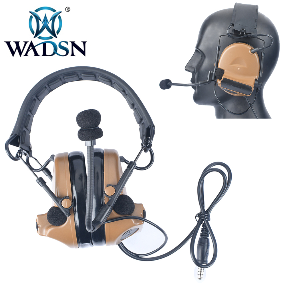 wadsn comtac ii tatico fones de ouvido para airsoft sem reducao ruido peltor softair fones de