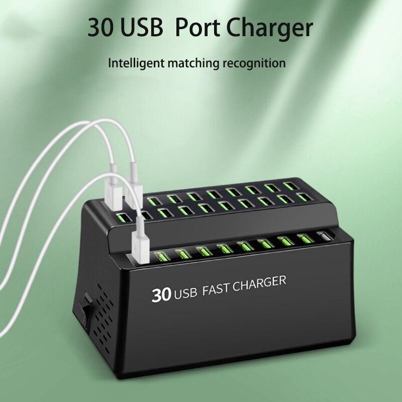 Usb зарядная станция для samsung huawei 30 usb умное быстрое зарядное устройство для oppo xiaomi Новая быстрая зарядная док станция для vivo eu uk us au вилка