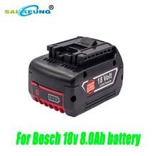 Substitua bosch bateria recarregável 18650 18v 8.0a bateria de ferramenta elétrica sem fio bat609 bat610 bat618 bat619g bateria de lítio