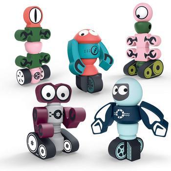 Robot magnético bloques de construcción juguete star wars deformación robot juguete para niños rompecabezas ensamblaje juguete regalos para niños