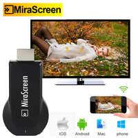 Mirascreen hdmi tv vara inteligente hd dongle receptor sem fio dlna airplay tv vara de exibição dongle para ios android