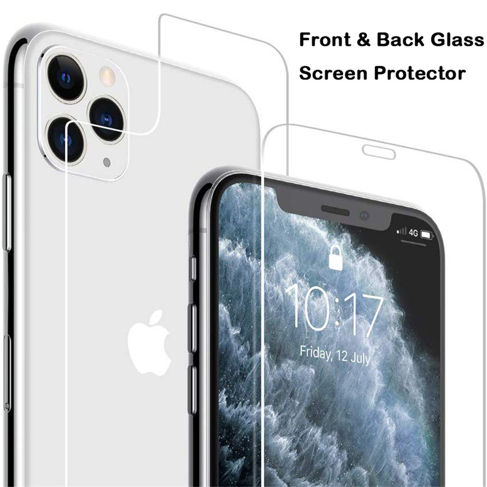 Front And Back Glass For Iphone X XS 11 Pro Max XR 5 5s SE Screen Protector Tempered Glass On Iphone 7 8 6s Plus 11 Pro Max Glas