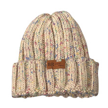 New Fashion Female Winter Hats Casual Handmade Colorful Line Decoration Knitted Coarse Lines Cable Retro Style Crochet Cap