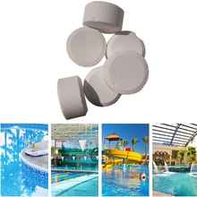 5 Pcs/Box Pool Chemistry Pills Chlorine Dioxide Sanitizing Tablets Cage Ingots Disinfectant Ph Adjuster Swiming Pool Accessorie 50 pieces of swimming pool instant disinfection tablets chlorine dioxide effervescent tablets disinfectant chlorine disinfectant