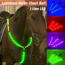 Pas jeździecki LED wodoodporny nylonowy pas na klatkę piersiową nocny widoczny napierśnik oświetlenie sprzęt jeździecki