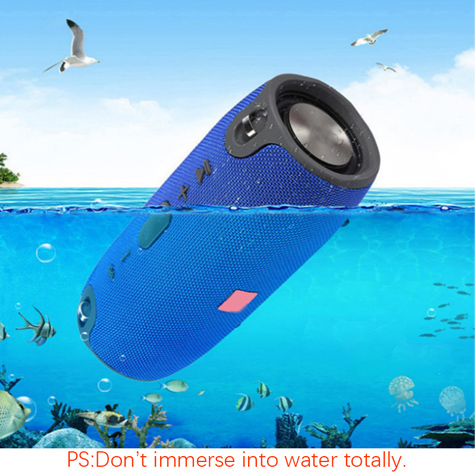 USB TF AUX MP3 Portable outdoor column Music Player Subwoofer