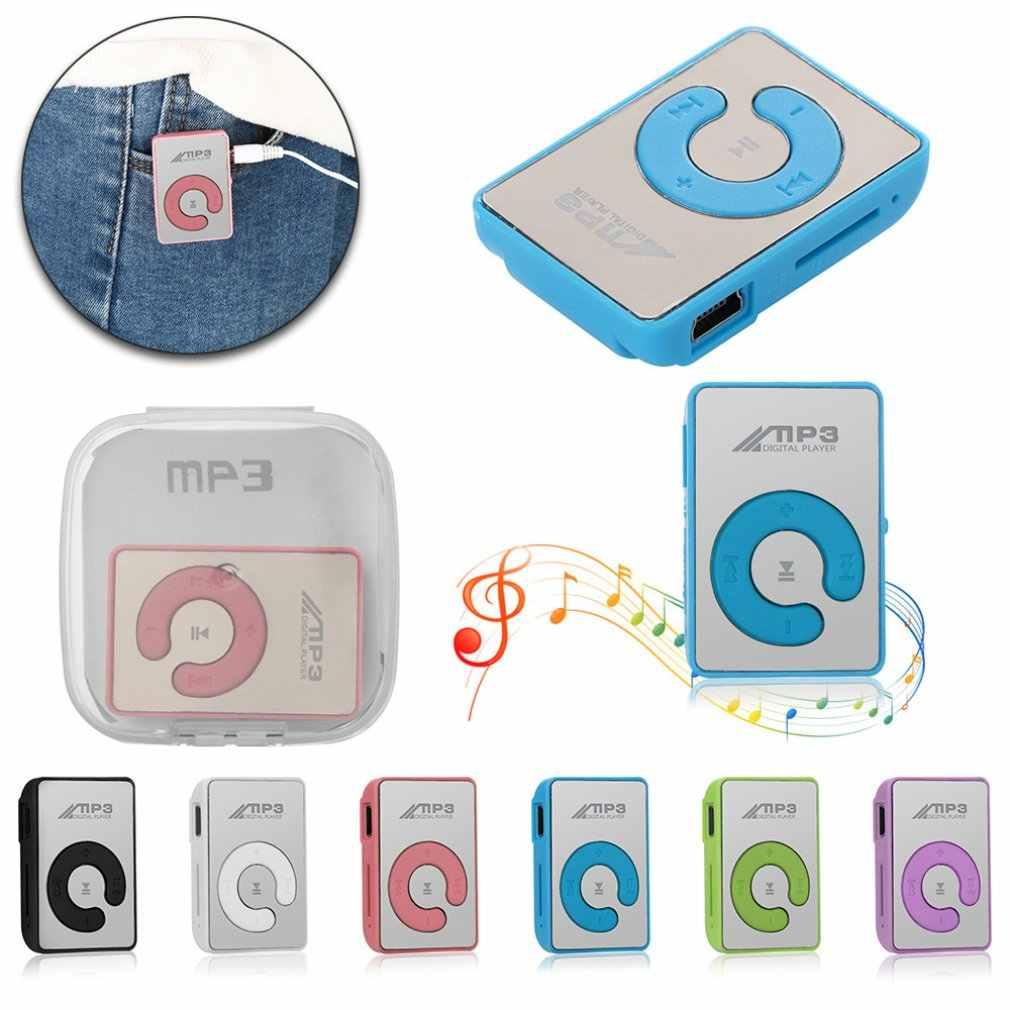 Mini Portabel Klip USB MP3 Pemain Musik Media Dukungan Micro Sd Tf Kartu Fashion HI FI MP3 Olahraga Luar Ruangan