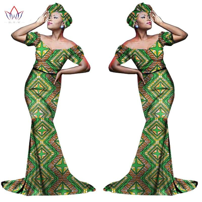 Африканский хлопчатобумажный материал Платья Для Женщин Дашики традиционная Анкара Мода Африка одежда с коротким рукавом Анкара платья WY963 - Цвет: 18