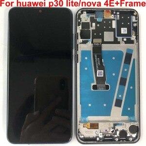 "Image 3 - กรอบ + Original สำหรับ 6.15 ""Huawei P30 Lite MAR LX1M 24MP 48MP MAR LX2J จอแสดงผล LCD + Digitizer แผงสัมผัสชิ้นส่วน"