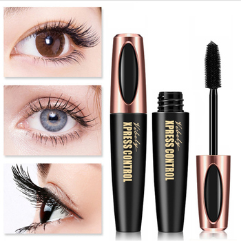 Waterproof 4D Silk Fiber Eyelash Thick Lengthening Black Mascara Fashion Sexy Makeup Cosmetics Eye Lash Extension Cream
