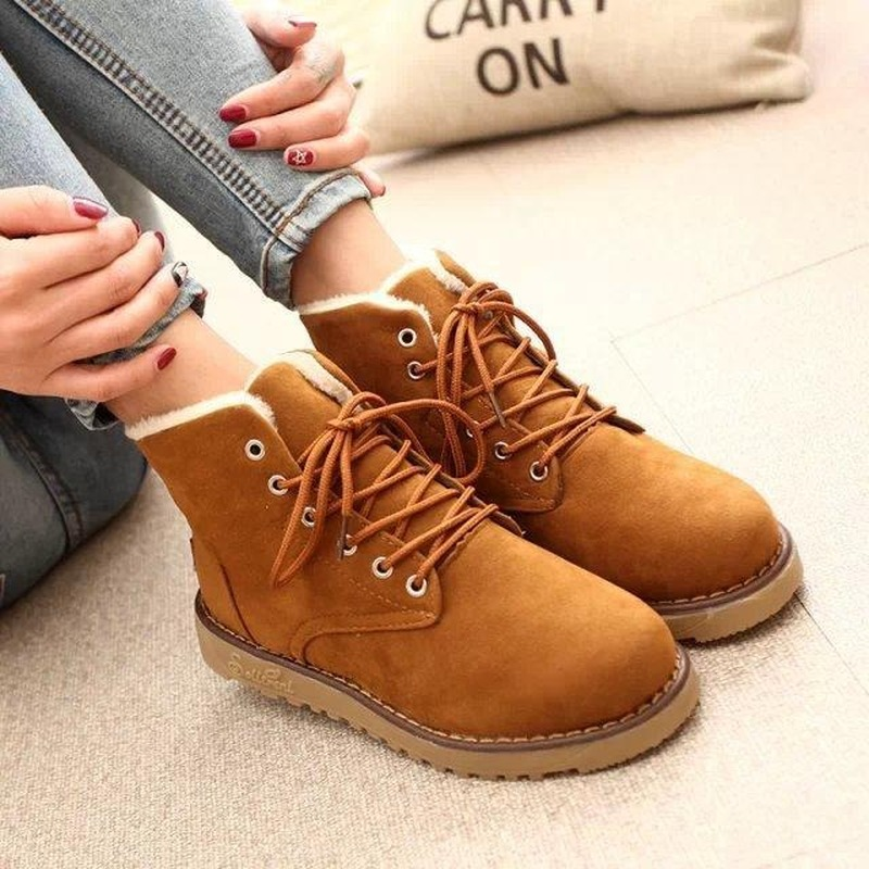 Hohner clothes shoes women's Boots antiskid New Waterproof Snow Boots Smooth Ankle Girls Student Women Winter Boots