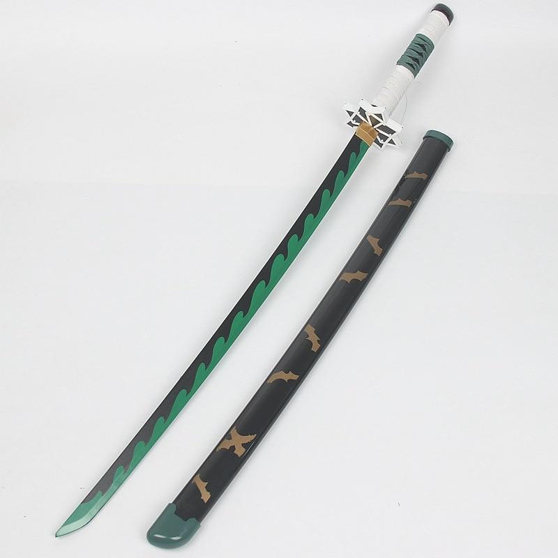 Épée en bois pour enfants jouets cadeau pour enfants vente chaude démon Slayer diable lame 100 Cm jeu de rôle armes animées