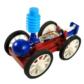 Air Car Experiment Diy Science Small Production Experiment Model For Teenagers Manual Class Air Compression Power Car diy manual technology small production creative vacuum cleaner student science experiment manual assembly of toy materials