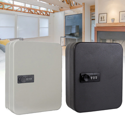 Metalowy zamek szyfrowy naścienny biurowy sejf przechowywanie w domu szafka resetowalny kod hasło Security Organizer Car|Sejfy|   -