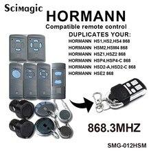 Hormann 868 abridor de porta da garagem remoto hormann hsm4 868 hormann controle remoto 868mhz para hs2 hs4 hse2 hse4 hsm2 portão controle