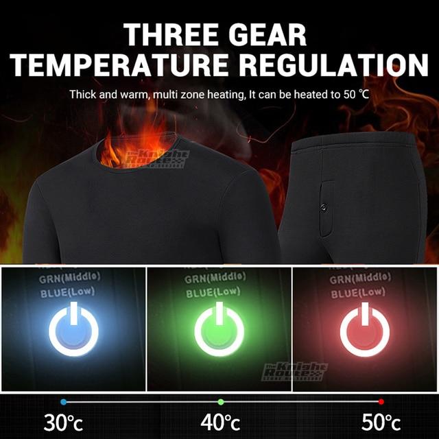 Женское термобелье с подогревом от USB походная одежда 2