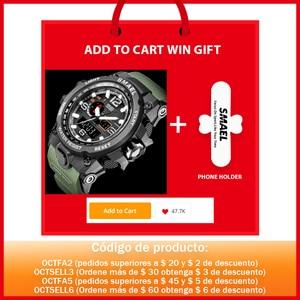 Image 2 - Men Military Watch 50m Waterproof Wristwatch LED Quartz Clock Sport Watch Male relogios masculino 1545 Sport Watch Men S Shock