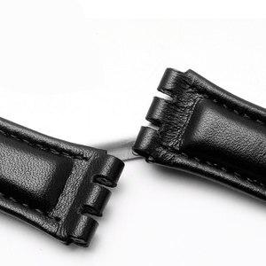 Image 2 - 17mm 19mm פרה עור להקת שעון לבן שחור חום אדום ורוד צמיד החלפת רצועת Fit דוגמית YCS YAS YGS