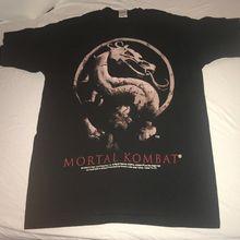 Vintage 1995 camisa Mortal Kombat película/videojuego Arcade L gran impresión camiseta para hombres de manga corta Camiseta caliente