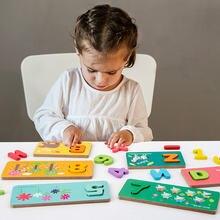 Детские игрушки Монтессори Развивающие деревянные геометрическая