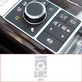 For Land Rover Range Rover Vogue 2015-2016 Aluminum Alloy  Center Console Mode Adjustment Button Sequins Car Accessories 10 Pcs
