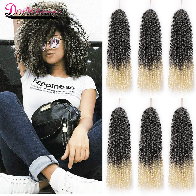 8'' 12'' Crochet Hair Marley Braid Hair Ombre Braiding Hair Extensions Synthetic Crochet Braids Grey Black Brown Purple
