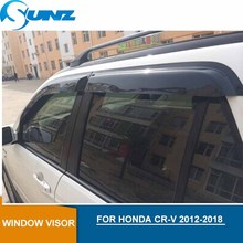 For HONDA CR-V 2012-2018 Window Visor deflector Rain Guard for 2012 2013 2014 2015 2016 2017 2018 SUNZ