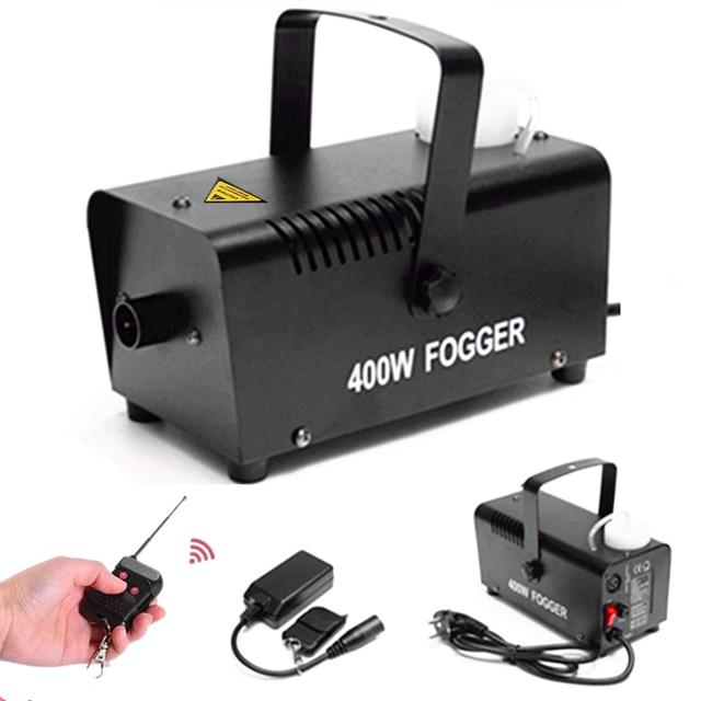 Máquina de fumo/com controle remoto, 400w, ejector resistente/para festa de natal, dj, palco, neblina, máquina/400w mini ejector de fumaça,