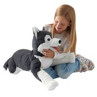 Fancytrader 22'' Cute Plush Husky Toy Big Stuffed Animal Husky Dog Toy Kids Gift X'mas Gift Home Decoration 57cm