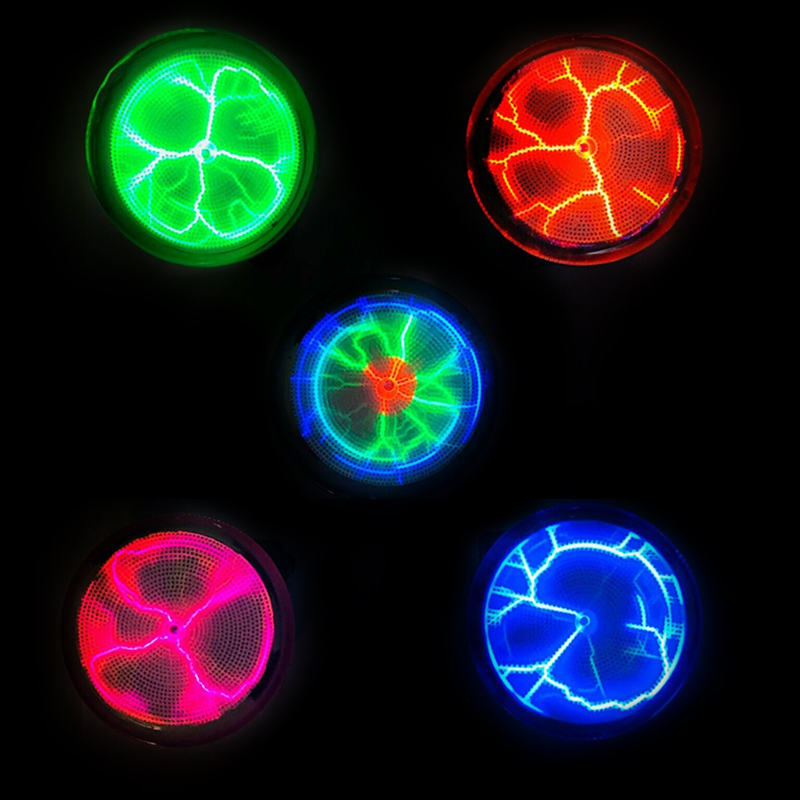 Plasmas Disk Sound Control LED Lighting Mini Plasma Disk Sensor Lighting Plate Party Home Decor  ALI88