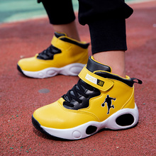 Children Basketball Shoes Black Yellow Kid Basketball Training Boots Anti-Slippery Boy Sport Trainers Gym Basketball Shoes 3060 cheap Mangobox Boys CN(Origin) All seasons