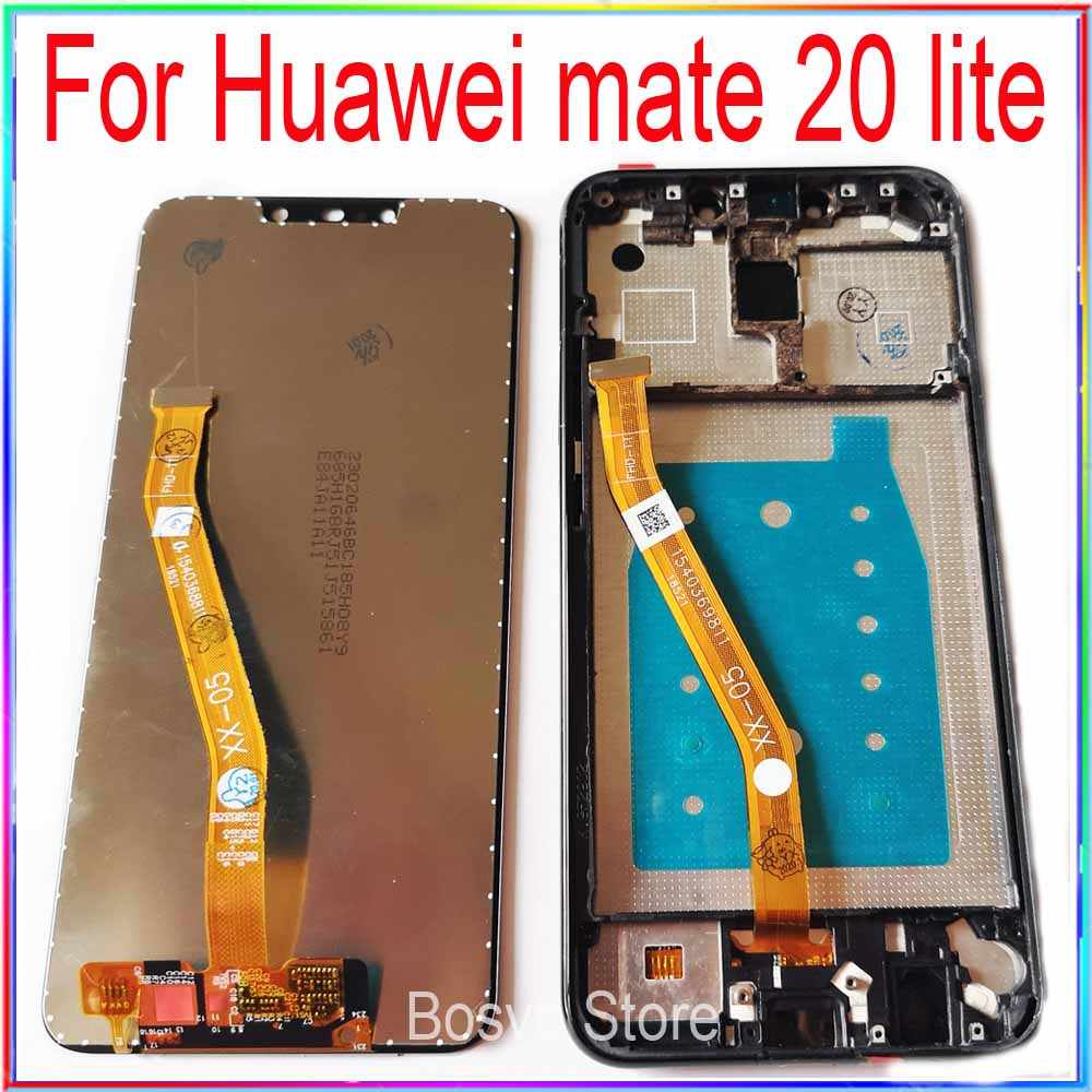 Color : Gold HEGUANGWEI Replacement Parts LCD Screen and Digitizer Full Assembly with Frame for Huawei Mate 20 Lite//Maimang 7 Black Cell Phone LCD Screen Accessories