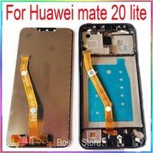 עבור Huawei mate 20 לייט LCD מסך תצוגה עם מגע עם מסגרת עצרת החלפת חלקי תיקון