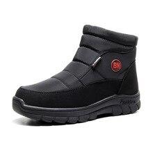 Fur Boots Winter Shoes Thick Non-Slip for Man Size-36-46 Men