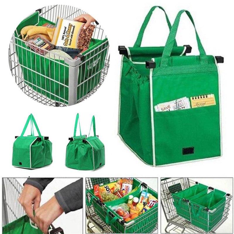 VOGVIGO Women Canvas Bags Shopping Bag Foldable Bag Green Folding Recycle Handbags Home Organization Tote Bag Grocery Bag